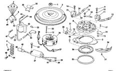 Johnson Lower Unit Group Parts for 1968 6hp CDL-25R