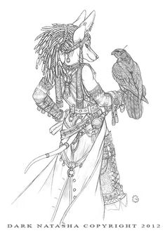 "The Messenger - ""Every ship needs a messenger to get information back and forth from ship to ship. Skilled at falconry and well trained in languages these crew member are a must have for any ship."" Art of Dark Natasha."