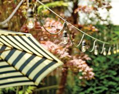 The inviting glow of our vintagestring lights can make any outdoor gathering all the more magical. And when you leave them up year-round, you're always ready for a get-together with friends. As long as you have the right tools on hand, installing string lights can be a very simple project. However, there are a few considerations you'll want to take into account beforehand. First, if you're stringing your lights across the yard, rather than around the perimeter of a porch ceiling, for…