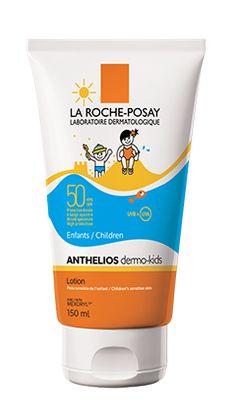 Tout savoir sur Anthelios Dermo-Kids Lotion FPS 50, un produit de la gamme Anthelios de La Roche-Posay recommandé pour Peau de l'enfant et soleil. Conseils d'experts gratuits