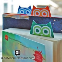 Cute owl paper bookmarks and cards with a branch on which to perch a little bird. Free printable.