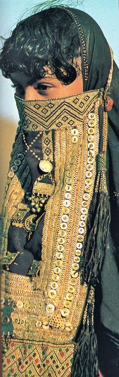 """Rashaida (Eritrean Arab), 1984. Nat Geo November 1984: Africa adorned. 