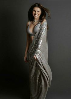Tara Sutaria in this sequin saree has left us speechless! Source by POPxoDaily saree Bollywood Girls, Bollywood Saree, Bollywood Fashion, Bollywood Outfits, Bollywood Actors, Beautiful Girl Indian, Beautiful Saree, Beautiful Indian Actress, Indian Beauty Saree