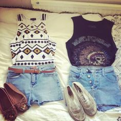 Cute outfits that could be found at goodwill (or reconstructed from outfits found at goodwill) :)