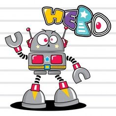 Cute Cartoon Robot Isolated On White Background Illustration Vector PNG and Vector Robot Background, Cartoon Background, Robot Cartoon, Cute Cartoon, Santa Hat Vector, Android Art, Arte Robot, Illustration, Yoga Poses For Beginners