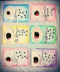 Art & Music Pregnancy i pregnancy test strip Art 2nd Grade, Classe D'art, Ecole Art, School Art Projects, Art Education Projects, Art Lessons Elementary, Kindergarten Art Lessons, Elementary Schools, Art Lesson Plans