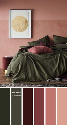 Warm Bedroom Colors, Plum Bedroom, Bedroom Colour Palette, Bedroom Color Schemes, Bedroom Green, Room Ideas Bedroom, Home Bedroom, Bedroom Decor, Best Colour For Bedroom