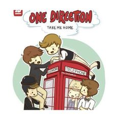one direction cartoon drawings | Tumblr ❤ liked on Polyvore
