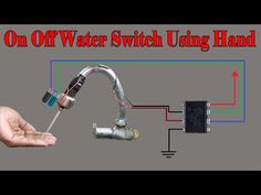 Tech Discover how to make automatic on off water pump using hand Electronics Mini Projects, Electronic Circuit Projects, Electronics Basics, Hobby Electronics, Electronics Components, Electronic Engineering, Arduino Projects, Basic Electrical Wiring, Electrical Projects