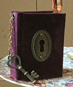 Miniature burgundy notebook  Hardback notebook  by GlassRoofBooks
