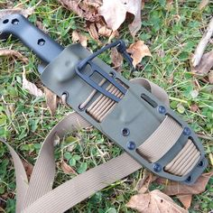 A straight piggyback custom kydex sheath for your Becker, Cold Steel, Esee, Gerber, KA-BAR, Mora, Ontario, Schrade, or SOG knives.  Optional belt loops, firesteel, Esee Pouch, and many colors to choose from.  Satisfaction Guaranteed!