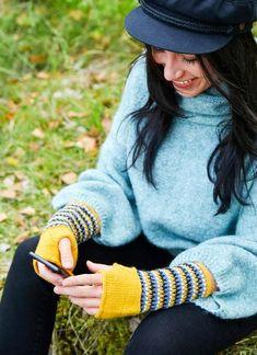 Kämmekkäät – katso ohje! | Meillä kotona Leg Warmers, Fingerless Gloves, Pullover, Legs, Sweaters, Style, Fashion, Leg Warmers Outfit, Fingerless Mitts