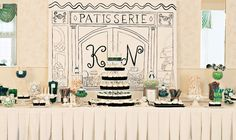 Kristi & Nathan's Parisian Inspired Sweets Table The Couture Cakery • Designer Cakes, Cupcakes, Dessert Table Designs in Central Pennsylvania