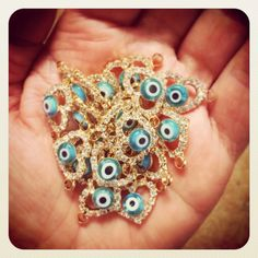 A handful of sparkly #diamante #evileye #heart #charms #danalevy