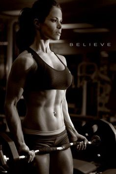 THIS is the result of body building for women. Heavy lifting=amazing muscle tone that cardio alone will NEVER get you.