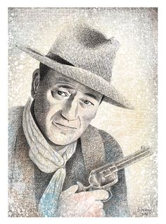 John Wayne Illustration (Print)