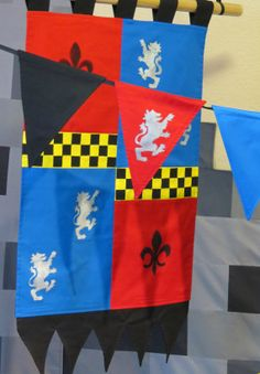 knight, medieval, renaissance, Custom King's Crest Banner and Bunting. Perfect by ThePartyOrchard, $42.00