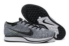 online retailer 421bd 3f12a 2018 New Arrival Nike Flyknit Racer Dark Grey Slate Grey Black Noir Youth  Big Boys Shoes
