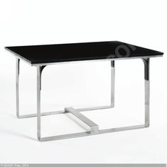 Steel and Lacquered Wood Table, Robert Mallet Stevens, Modernisme, Bauhaus Design, Wood Table, Decoration, Art Nouveau, Contemporary, Interior, Furniture