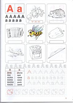 fise clasa pregatitoare Alphabet Writing, Preschool Writing, Alphabet Activities, Preschool Learning, Educational Activities, Preschool Activities, Teaching, Letter Tracing Worksheets, Teacher Supplies