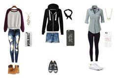 """Random outfits...."" by notperfectrockstar ❤ liked on Polyvore featuring Timberland, Sugar NY, American Eagle Outfitters, Converse, LE3NO, Casetify and Boohoo"