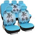 Blue Palm Tree Car Seat Cover Front R...