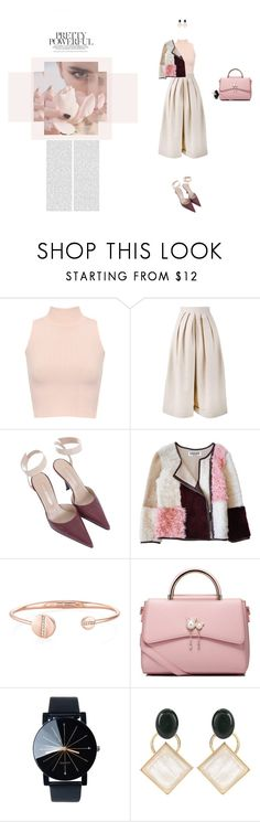 """Prrety & Powerful"" by naudad ❤ liked on Polyvore featuring WearAll, Delpozo, Sergio Rossi, Florence Bridge, WithChic and Marni"