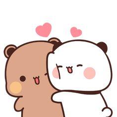 Cute Bunny Cartoon, Cute Cartoon Images, Cute Kawaii Animals, Cute Love Cartoons, Cute Cartoon Wallpapers, Cute Panda Wallpaper, Cute Couple Wallpaper, Chibi Cat, Cute Chibi