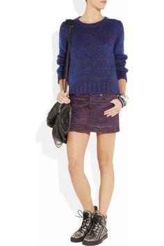 See by Chloé|Arizona printed stretch-cotton drill mini skirt|NET-A-PORTER.COM    90s girl