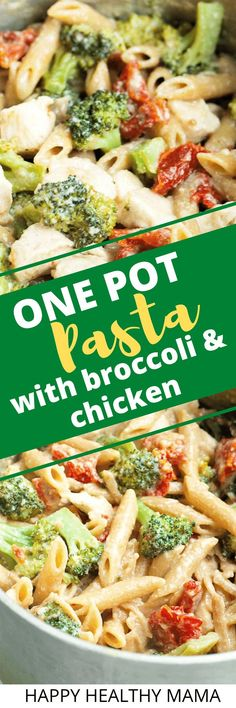 One Pot Pasta dinner recipe with veggies! This is easy and healthy and we love it so much. Great healthy pasta dinner recipe the whole family loves. EASY!!