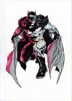 Batman (Watercolor) (Acuarela) José Martín