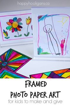 Framed Photo Paper Art for Kids to Make and Give - Happy Hooligans