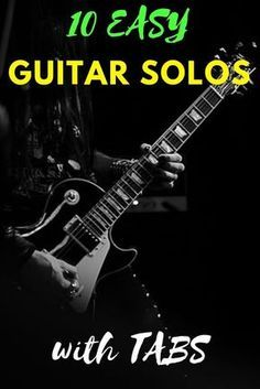 10 Easy Guitar Solos for Begginers - with TABS - jule Guitar Strumming, Music Theory Guitar, Guitar Chords Beginner, Easy Guitar Songs, Guitar Chords For Songs, Acoustic Guitar Lessons, Fingerstyle Guitar, Jazz Guitar, Guitar Solo