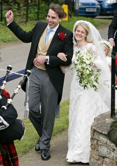 Emily McCorquodale and James Hutt after their wedding ceremony.