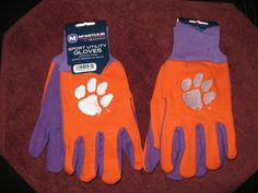 TWO (2) PAIRS OF CLEMSON TIGERS, ALL PURPOSE SPORT UTILITY GLOVES #McArthur #ClemsonTigers