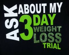 Herbalife 3 Day Trial T-Shirt with Glitter Vinyl