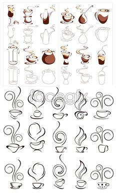 Abstract coffee graphics vector