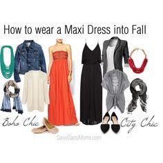 How to wear a Maxi Dress into Fall @savvysassysmoms