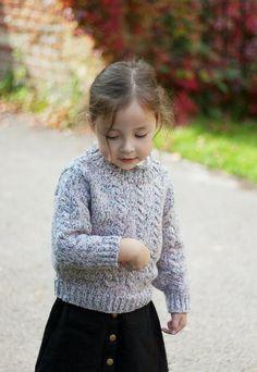 chunky knit, girls jumper, kids clothes, kids knitwear, streetstyle, kids style, handknitted jumper
