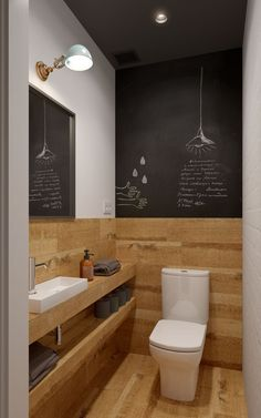 minimalistische Badezimmer von de baños pequeños modernos So kommen kleine Badezimmer groß raus Amazing Bathrooms, Bathroom Makeover, Bathroom Flooring, Bathroom Mirror, Bathroom Design Small, Toilet, Toilet Design, Painting Bathroom, Trendy Bathroom