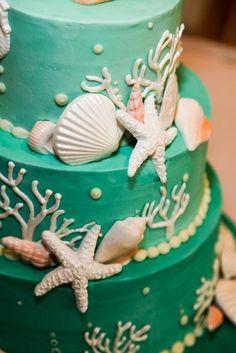 61 Dreamy Beach Wedding Cakes | Weddingomania