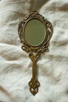 Vintage Handheld Mirror by MollysRidge on Etsy