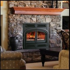 Wood Pellet Stove Fireplace Insert - Spring is finally here. So now the fireplace period is winding down. Home Fireplace, Wood, Wood Burning Stove Insert, Pellet Stove Inserts, White Wood Furniture, Vermont Castings Wood Stove, Stove Fireplace, Wood Burning Fireplace Inserts, White Fireplace
