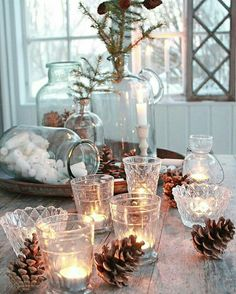 99 ideas for Scandinavian Christmas decorations Gemütliche Weihnachten Classy Christmas, Nordic Christmas, Christmas Mood, Noel Christmas, Christmas Lights, Vintage Christmas, Christmas Crafts, Country Christmas, Beautiful Christmas