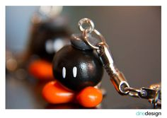 dinedesign - keychain - Super Mario bomb - Bob-omb