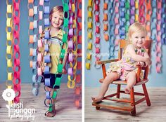 Amazing birthday photo backdrop easy to make and I have the construction paper we can use!