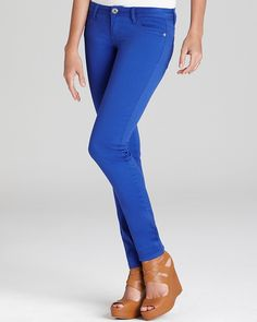 Cobalt jeans. This color is amazing!