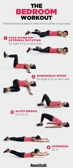 You Don't Have to Leave Your Bedroom to Do This Effective Workout | Women's Health