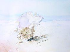 Shipwrecked Murex Shell  ORIGINAL Artwork Watercolor