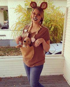 Cute Kangaroo Halloween Costume for Pregnant Women